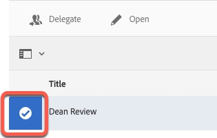 Arrow pointing to document icon selected