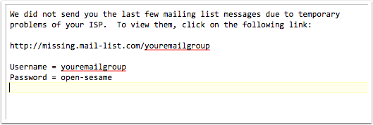 When the ISP stops blocking your subscriber's email, we will put a notification at the top of one of their emails.