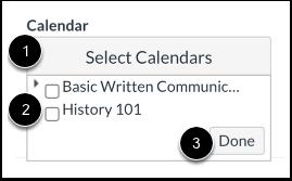 Kalenders selecteren