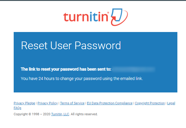 Turnitin - Reset User Password - Google Chrome