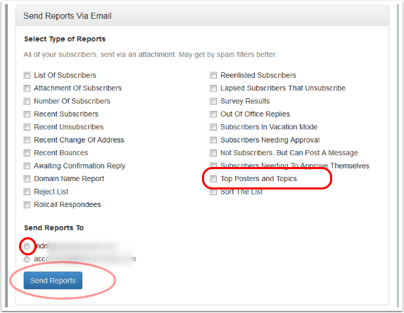 Send Reports Via Email