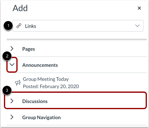 Select Group Content