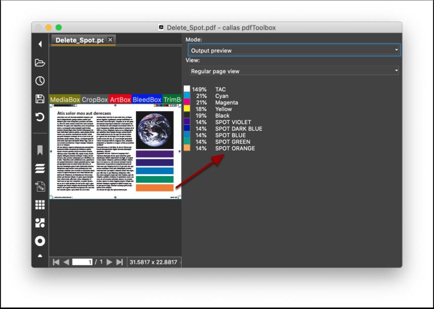 """Open the PDF file """"Delete spot_Demo file.pdf"""""""