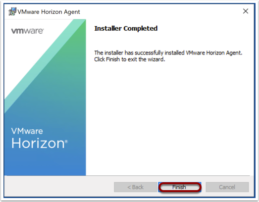 Finish the agent installation for Windows images.