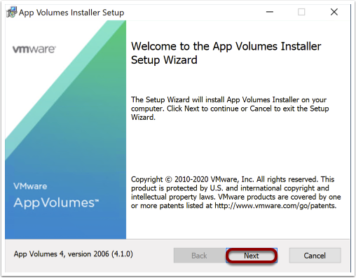 Install App Volumes agent on Windows images.