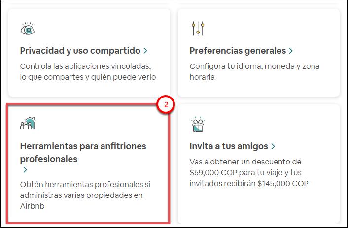 Configuración de la cuenta de Airbnb - Google Chrome