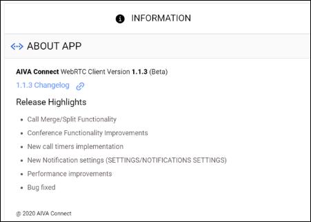 WebRTC 1.1.3 Release Highlights  - Word