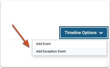 Select Add Exception Event