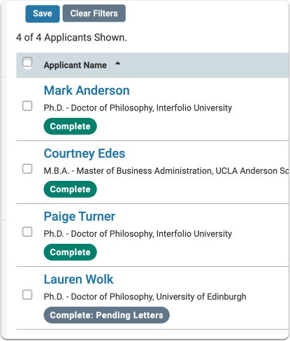 Applications - Faculty Search - Interfolio