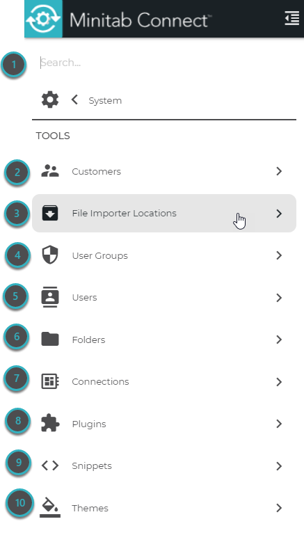 The System Tools menu contains all of the system tools.