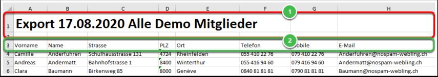 Mitglieder Alle Mitglieder.xlsx - Excel