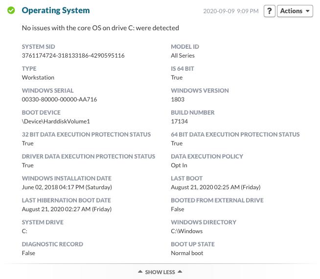 Operating System plugin (Windows)