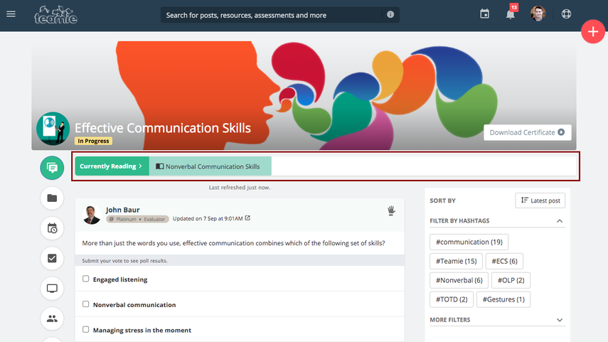 (13) Newsfeed | Effective Communication Skills | Training Demo