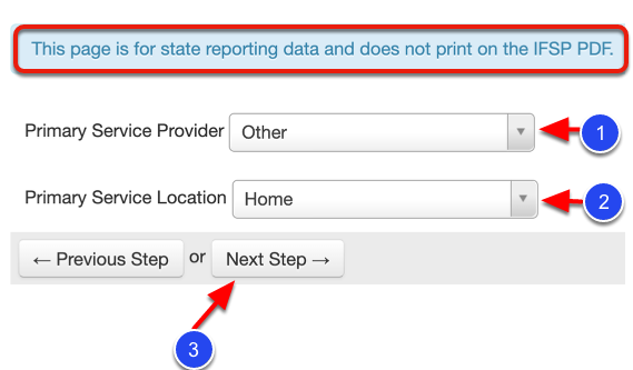 Add Primary Service Provider and Primary Service Location