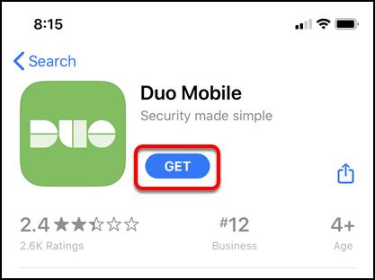 Duo Mobile app