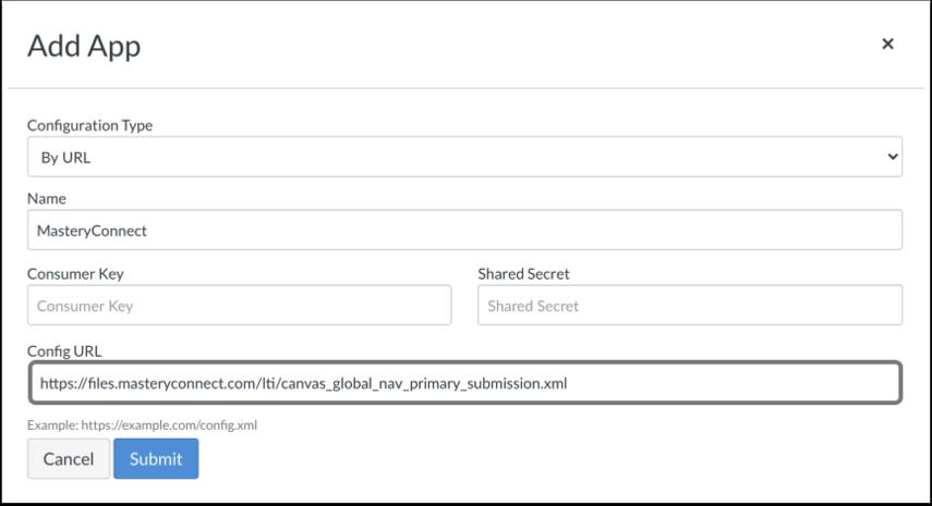 Add Configuration URL