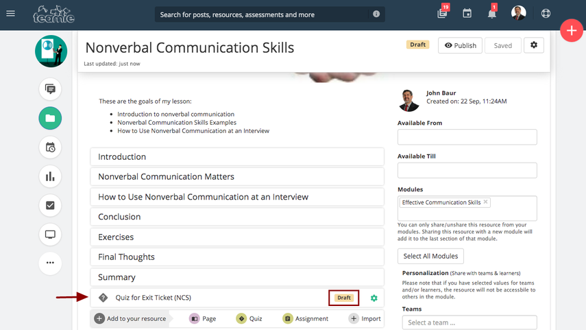 (1) Nonverbal Communication Skills | Training Demo