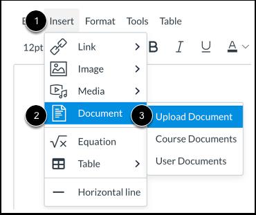 Open Document Upload Tool from Menubar