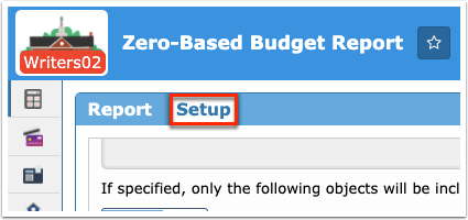 Zero-Based Budget Report
