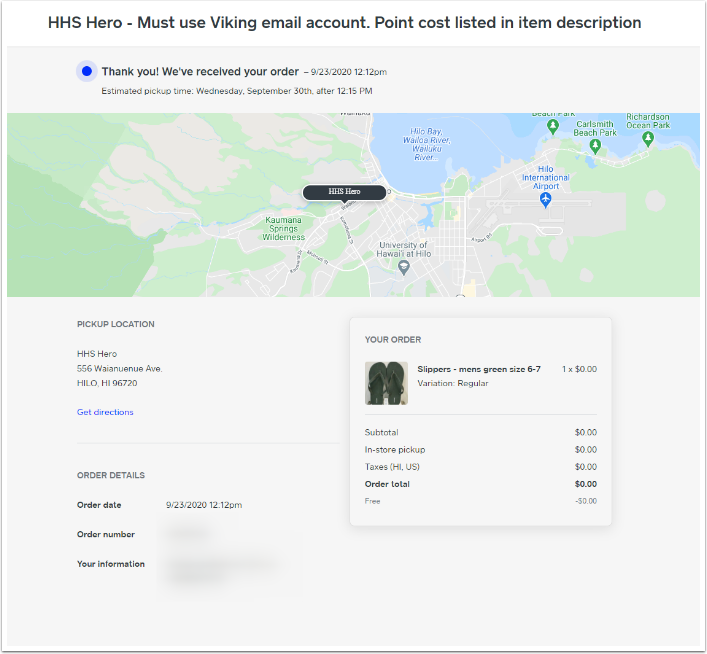 Order Confirmation - Google Chrome