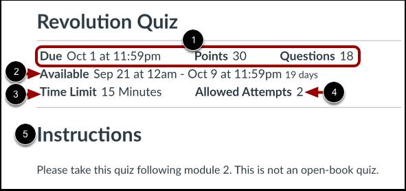 View Open Quiz