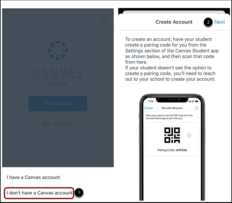 Create Account Using QR Code