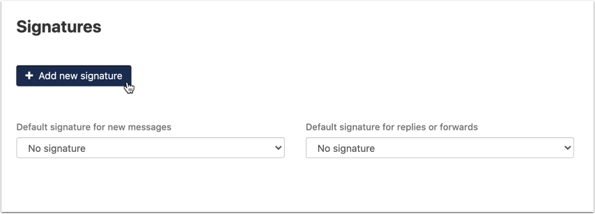 Settings Signatures - Olegark Xavier - OX App Suite