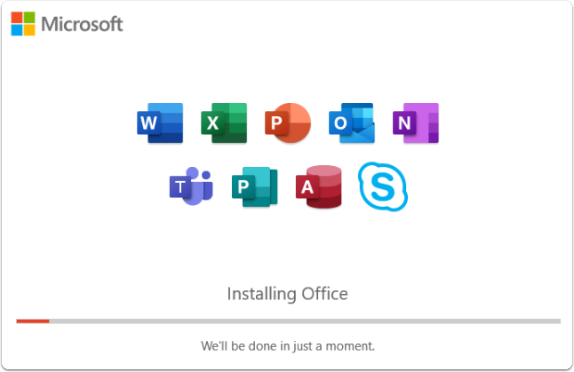 installing office screen