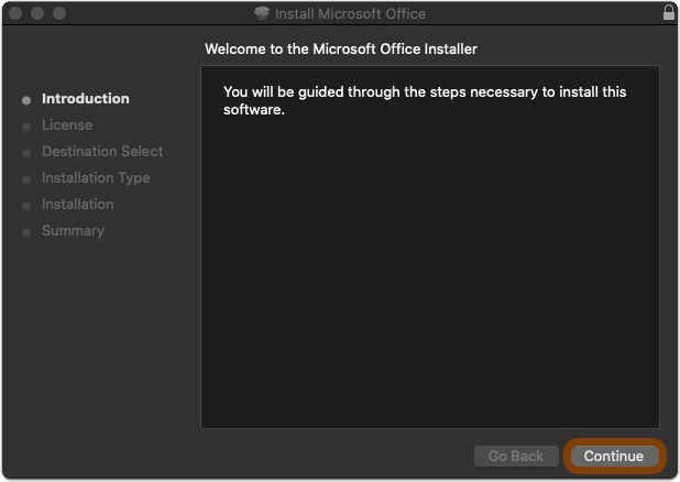 Office getting ready screen