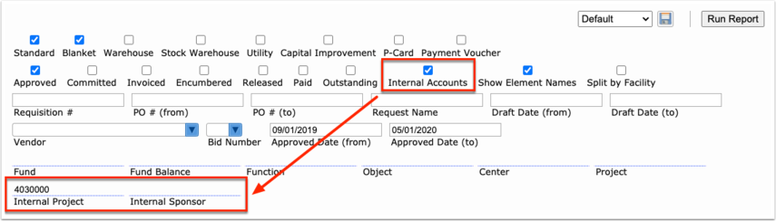 Purchase Request/Order Report