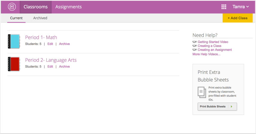 View Gradebook Interface
