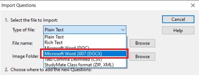 Microsoft Word 2007 selected