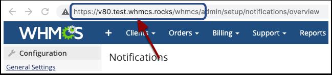 Observe browser's URL bar