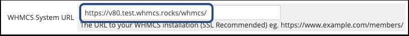 WHMCS System URL Setting
