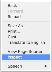 Right click and select Inspect