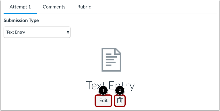 Submit Text Entry