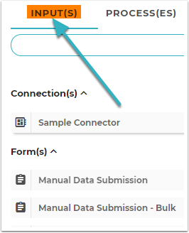 Open the Input(s) Tab on the Flow Configuration Tool.