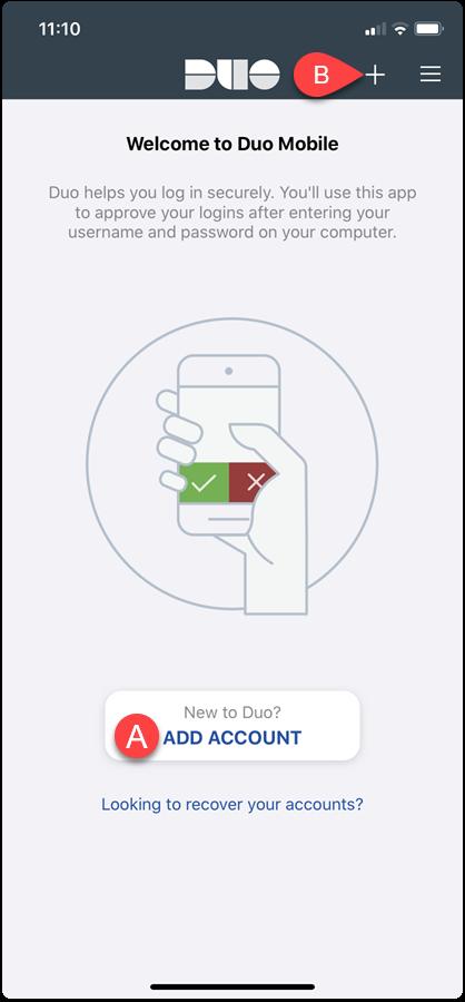duo app add account