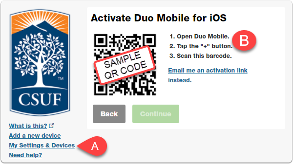 activate duo mobile screen