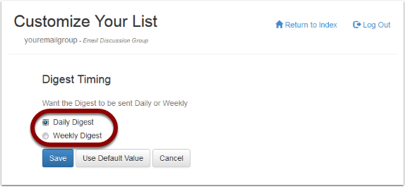 Select the option you want and save your settings: