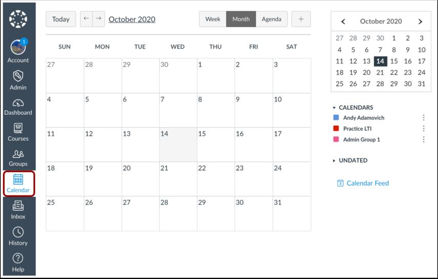 Kalender bekijken
