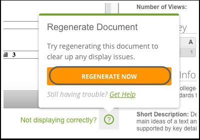 Regenerate Assessment