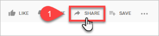 Select the YouTube Share button