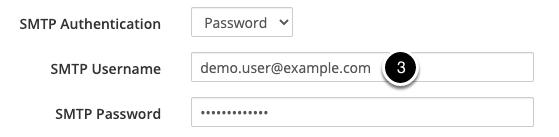 SMTP Username