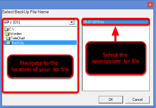 5. Select the File Path and File you would like to import so that it highlights in blue.