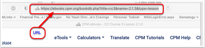 CPM eBooks - CC Course 3 Lesson 2.1.3