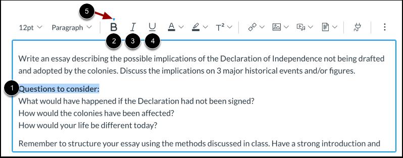 Enfatizar formato del texto