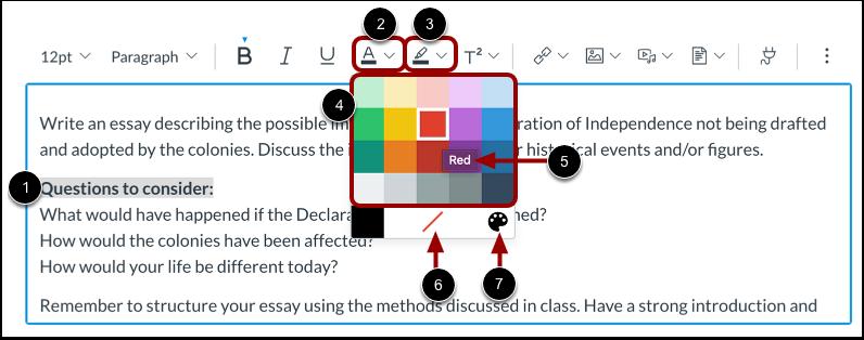 Tekstkleur en tekstmarkeringskleur