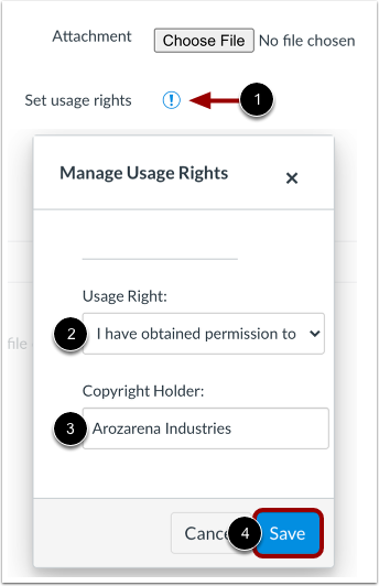 Manage Usage Rights
