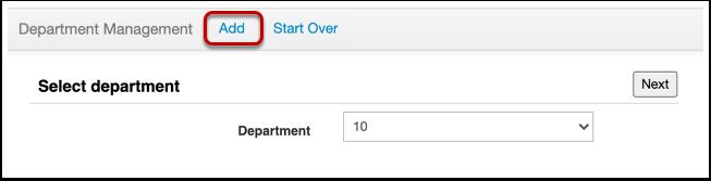 Create a Department